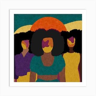 Together Square Art Print