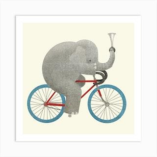 Ride Square Art Print