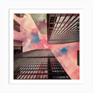 Cloud City Square Art Print
