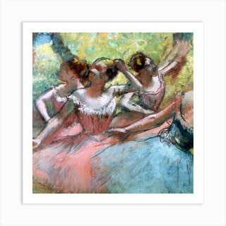 Four Ballerinas On The Stage by Edgar Degas Art Print
