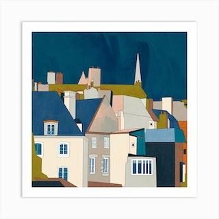 Saint Malo Square Art Print