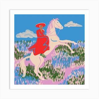 Horse 2 Square Art Print