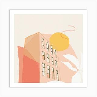 Sunset View Square Art Print
