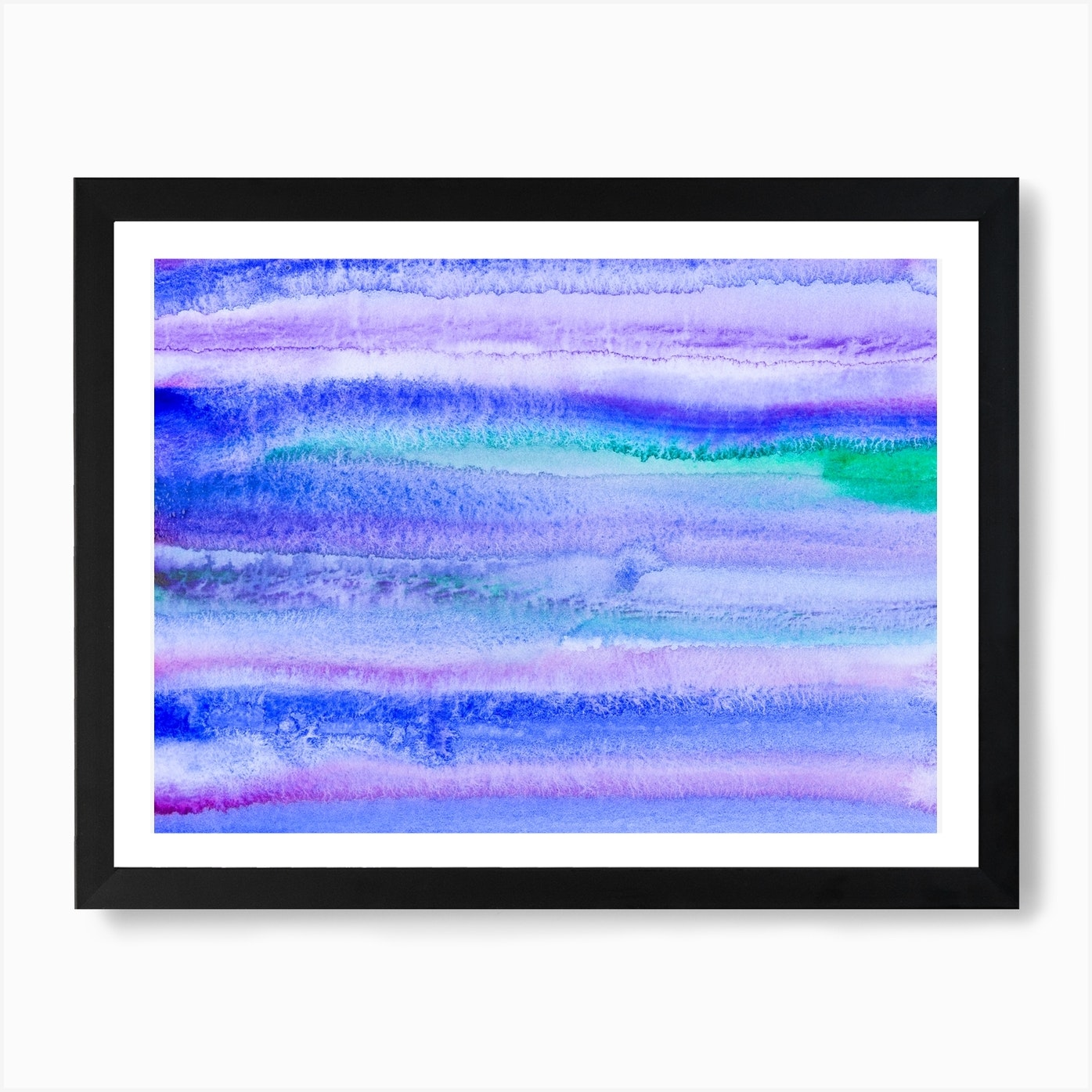 Abstract Blue Landscape Art Print