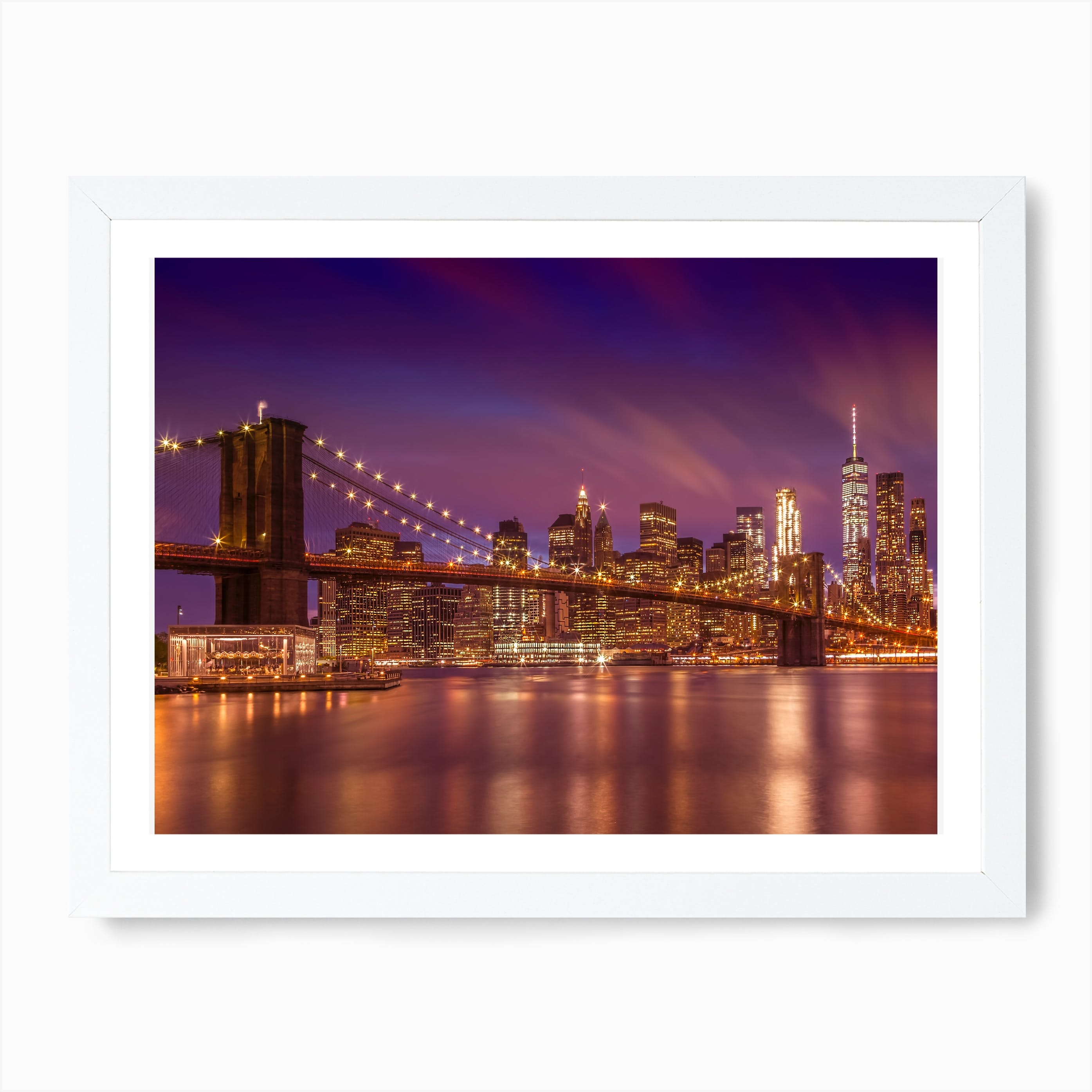 "New York City/"" Canvas Art Print /""Brooklyn Bridge"