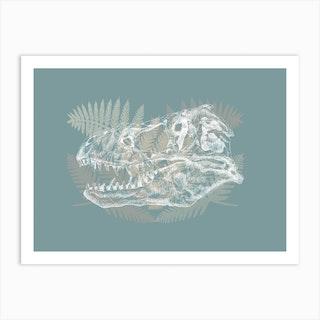 Rex Skull Art Print