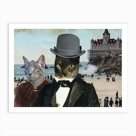 Mr Whiskers and Ms Prim Art Print