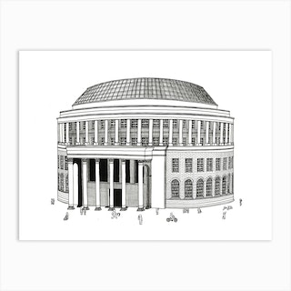Manchester Central Library Art Print