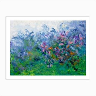 Mom'S Flower Garden Art Print
