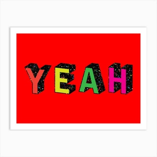 Red Yeah Art Print
