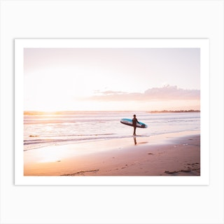 Venice Beach Surfer Art Print