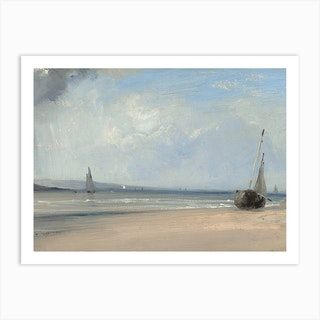 An Estuary In Northern France, Richard Parkes Bonington Art Print
