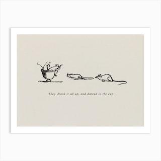 The little mice, Edward Lear Art Print