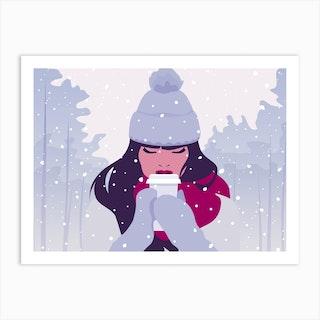 Snowy Horizontal Art Print