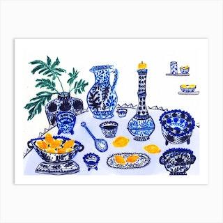 Dinner In Persepolis Art Print