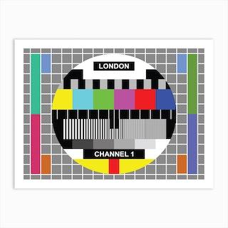 London Tv Test Card Art Print
