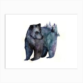 Forest Bear Art Print