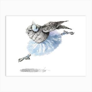 Owl Lake   White Owl Art Print
