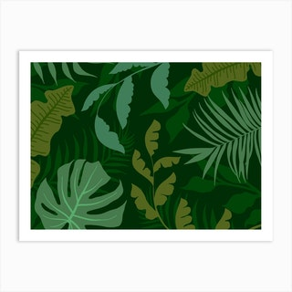 Green Jungle Art Print