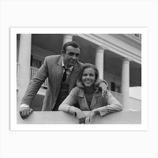 Sean Connery And Honor Blackman 11th June 1964 Art Print