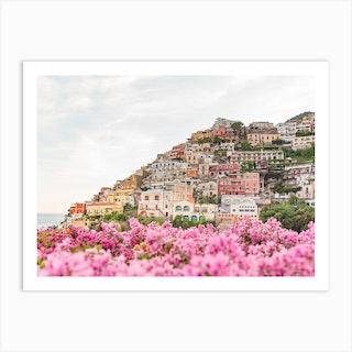 Pink Positano Art Print