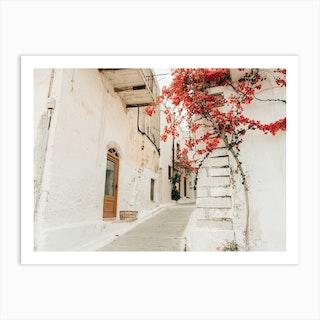 Little Street In Greece Art Print