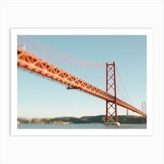 The Red Bridge Art Print