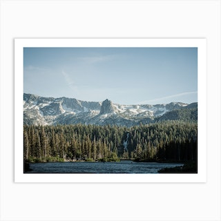 Crystal Crag From Twin Lakes Desaturated Art Print