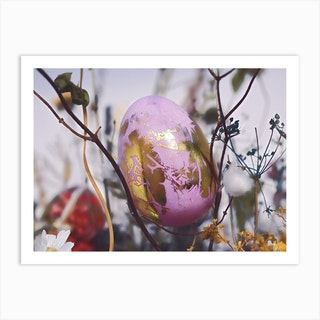 Purple Egg Art Print