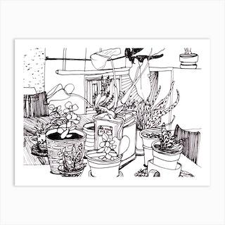 Succulent Gathering Art Print