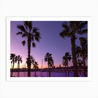 Sunset At Malaga  Art Print