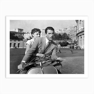 Vacances Romaines Avec Gregory Peck Et Audrey Hepburn Art Print