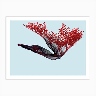Fly Baby Red Art Print
