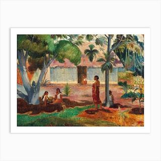 The Large Tree, Paul Gauguin Art Print