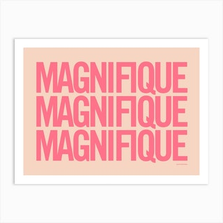 Magnifique Coralpink Art Print