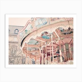 Pink Paris Carousel Art Print