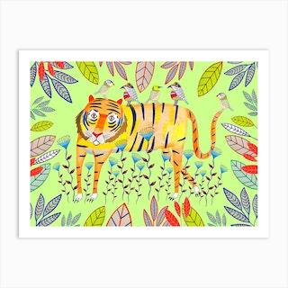 Tiger Plants Art Print