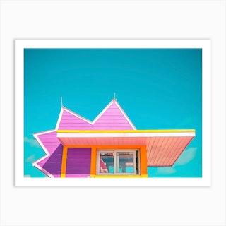 Beach Details Pink Art Print