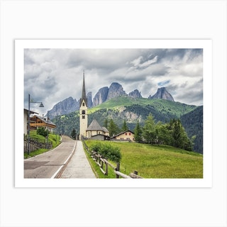 Dolomites Village Art Print