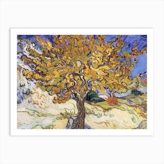 Mulberry Tree, 1889 by Vincent van Gogh Art Print