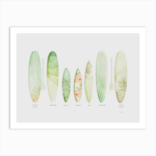 Tropical Surf Art Print