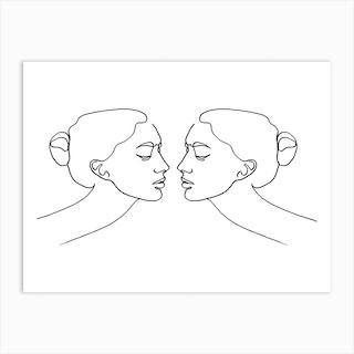 Together Horizontal Art Print