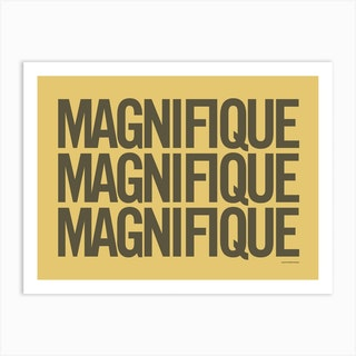 Magnifique Mustard Art Print