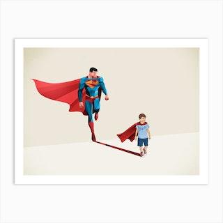 Super Shadows Boy Of Tomorrow Art Print