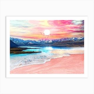 Surreal Sunset Art Print