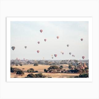 Myanmar Balloons Art Print