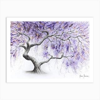 Purple Prosperity Tree Art Print