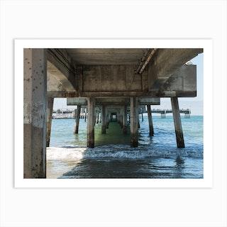 Belmont Pier Art Print