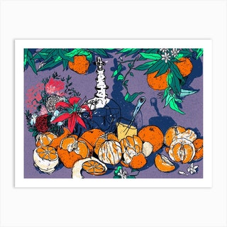 Citrus Still Life Art Print