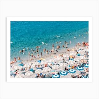 Amalfi Beach Aerial Art Print
